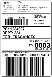 Star TSP labels Premium TOPCOATED-BYPOS-1335