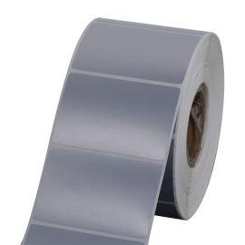 Polyester labels Zilver voor de  ( GK420T, GX420T, ZT220T, B-ev4t, GC420T, TTP-247 )