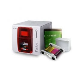 Evolis Zenius Bundle, eenzijdig, 12 dots/mm (300 dpi), USB, rood-ZN1U-MB10