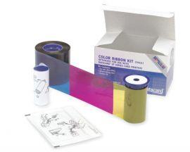 Datacard Color Ribbon, YMCKT, 500 prints Include one ribbon, one isopropanol cleaning card and one adhesive cleaning sleeve.